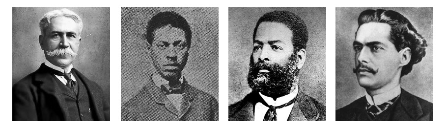 """Joaquim Nabuco, André Rebouças, Luiz Gama, Castro Alves were staunch militants. They articulated in the press and in the parliament, resulting in gradual achievements, among them the """"Lei do Ventre Livre"""" (Free Womb Law) in 1871."""